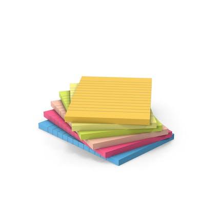 Pila de notas adhesivas