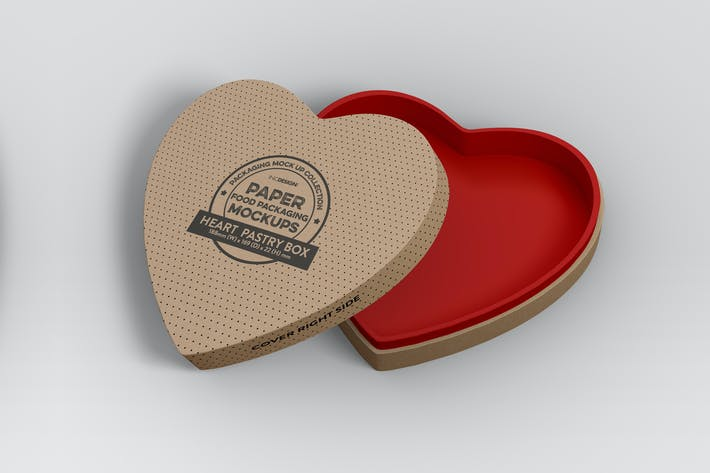 Thumbnail for Paper Heart Box Packaging Mockup