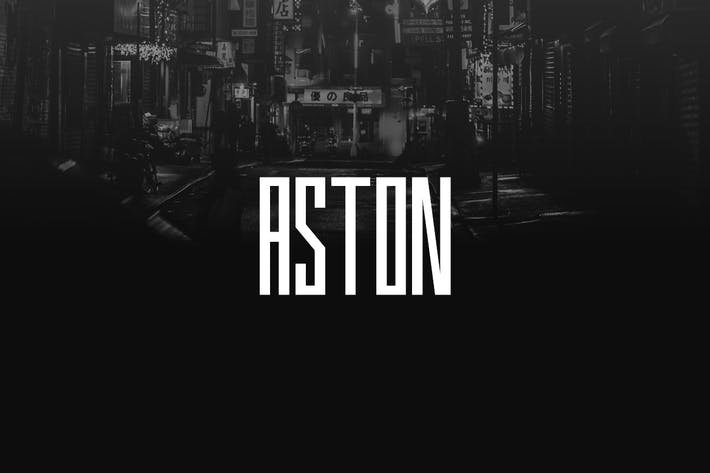 Thumbnail for ASTON - Urban Display / Headline / Logo Typeface