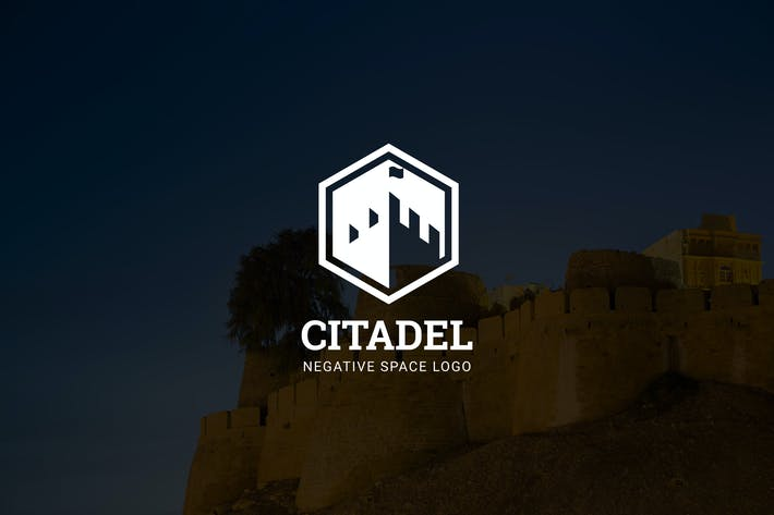 Thumbnail for Citadel : Negative Space Castle Logo