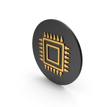 Microchip Gold Icon
