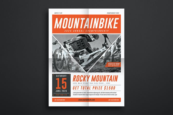 Thumbnail for Mountain Bike Event Flyer