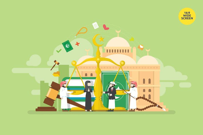 Thumbnail for Islamic Sharia Financial Law Vector Concept