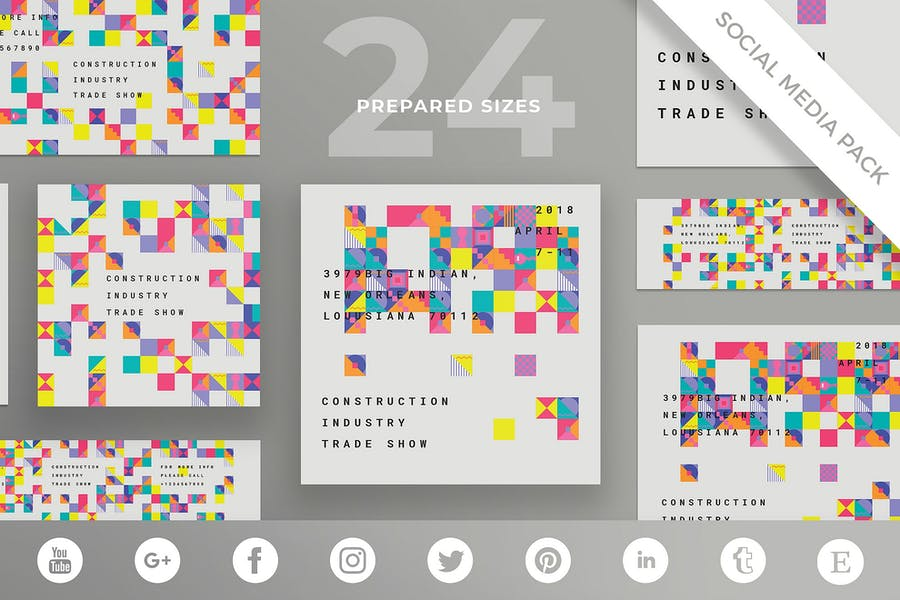 Industry Show Social Media Pack Template
