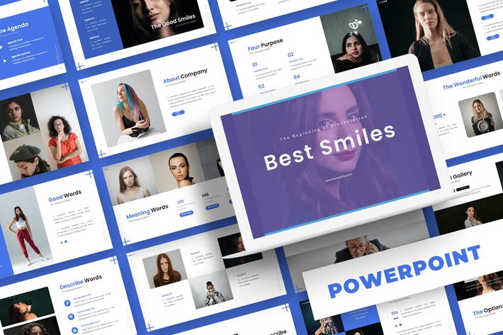 Thumbnail for Лучшие улыбки - Шаблон Powerpoint