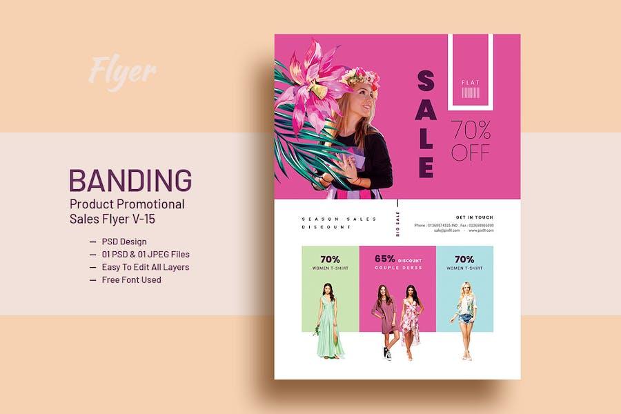 Promotional Product Sales Flyer V-15