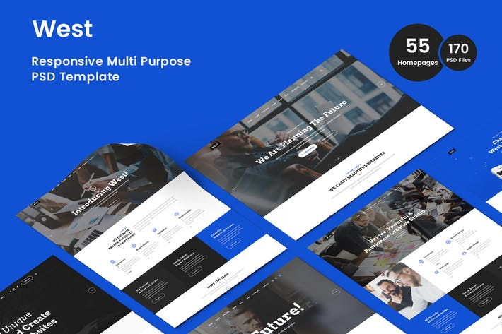 Thumbnail for West Multi-Purpose Business PSD Template