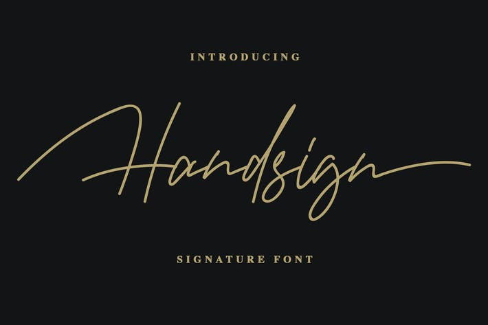 Thumbnail for Handsign - Police de signature