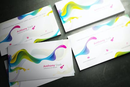 Painted Business Card Design