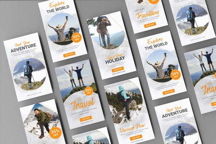 Thumbnail for Travel Banner Stories Template