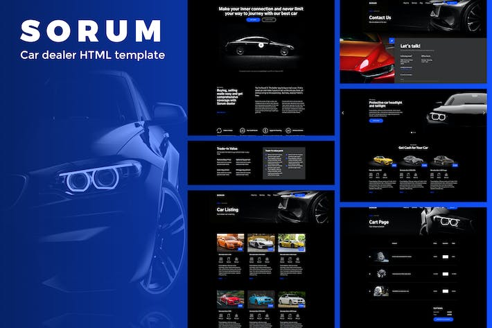 Cover Image For Sorum - Plantilla HTML de concesionario de coches