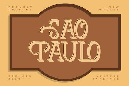 Sao Paulo | Tipo de letra vintage