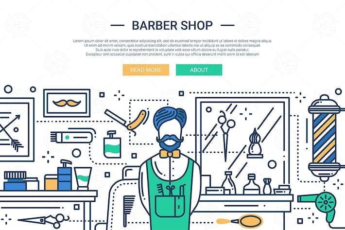 Thumbnail for BarberShop - line design illustration
