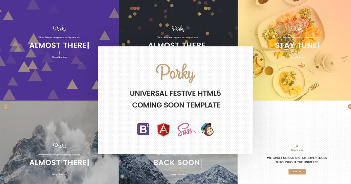 Porky – Responsive HTML5 Coming Soon Template by Hencework