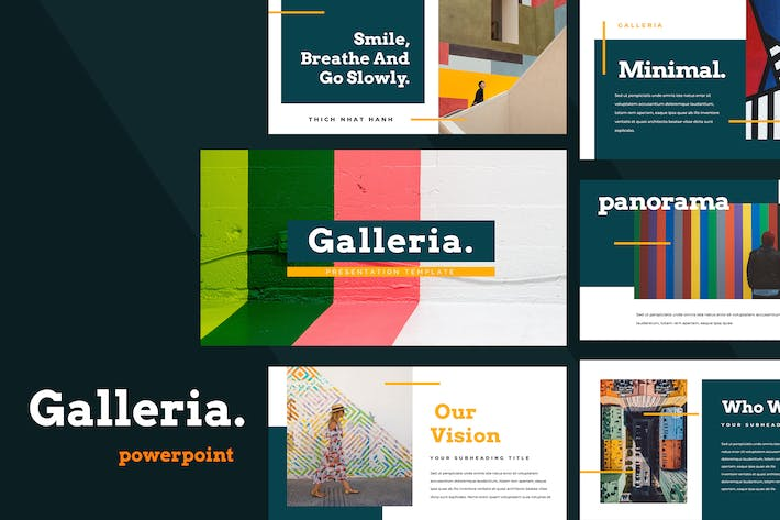 Thumbnail for Galleria Colorful Powerpoint Presentation