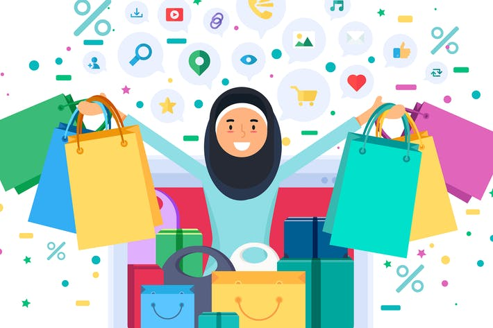Thumbnail for Online Shopping Muslim Woman
