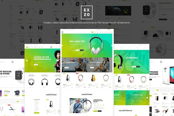 Thumbnail for Exzo - Shop PSD Template