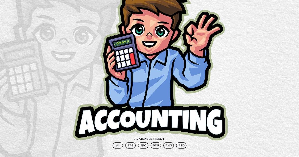 Download Accounting Business Man Mascot Logo by yogaperdana7