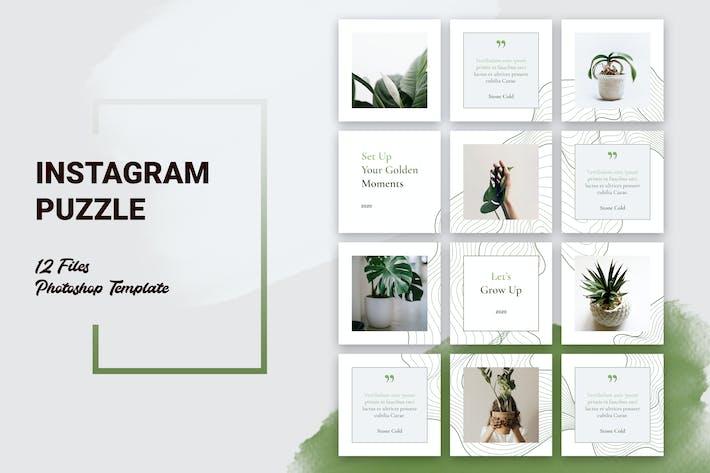 Thumbnail for Instagram Puzzle Botanical