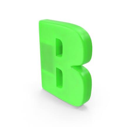 Imán para nevera letra B