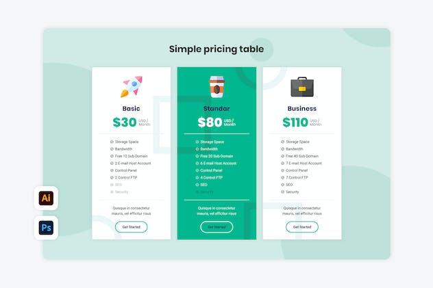 Pricing Table - Konsultan 1