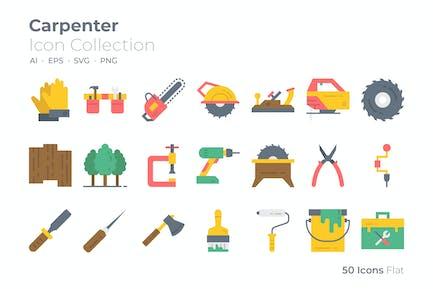 Carpenter Color Icon