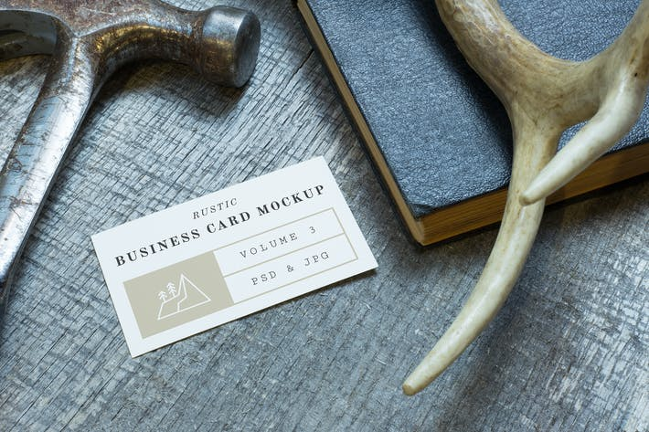 Thumbnail for Rustic Business Card Mockup Vol. 3