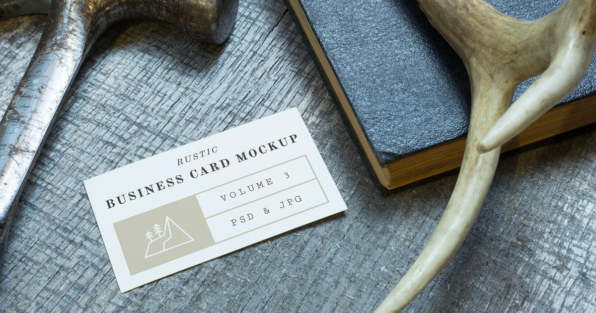 Download Rustic Business Card Mockup Vol. 3 by adrianpelletier