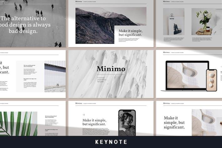 Thumbnail for Минимум - современный минимальный Шаблон Keynote заметок