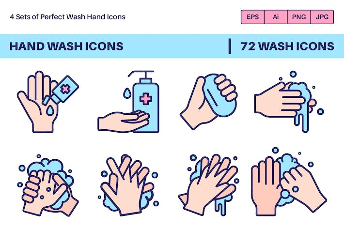 Thumbnail for Hand Wash Icons