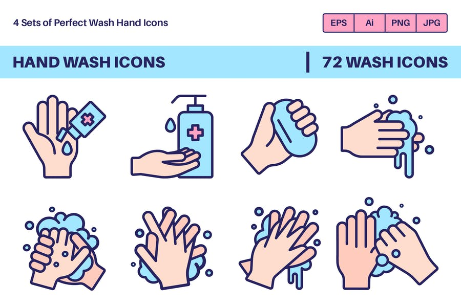 Hand Wash Icons
