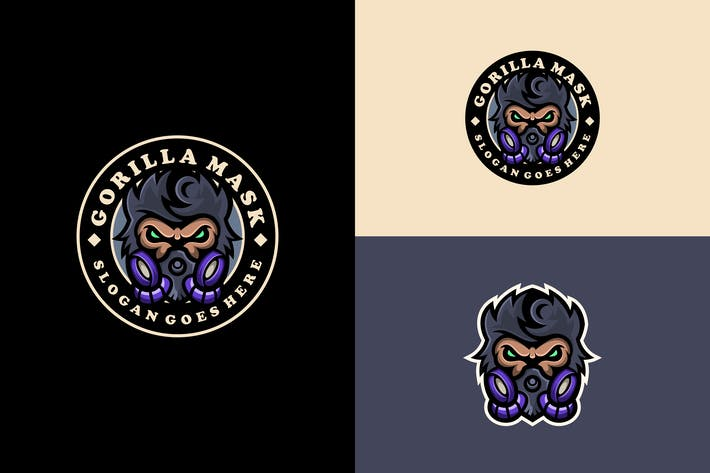 Thumbnail for gorilla mask logo emblem mascot