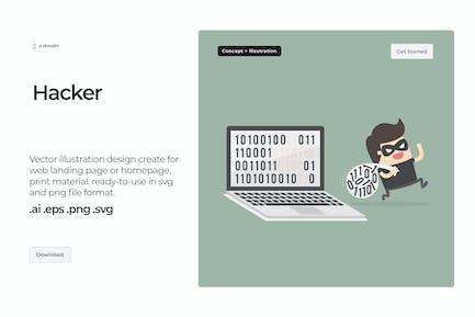 Dooder - Hacker Illustration