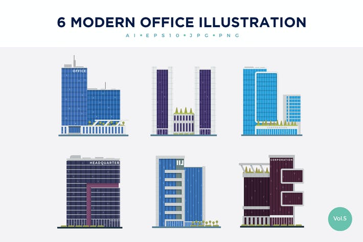 Thumbnail for 6 Modern Office Vector Illustration Set 5