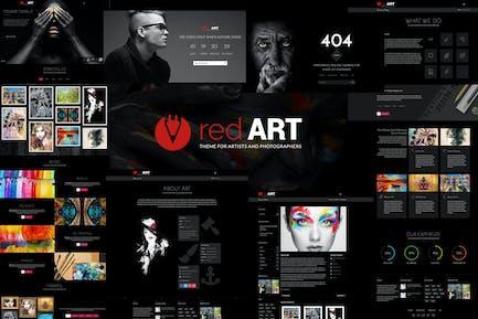 Red Art - Multipurpose Portfolio HTML Template
