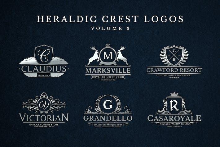 Thumbnail for Logotipos de escudo heráldico 3