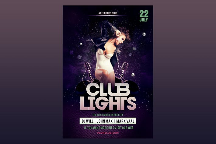 Thumbnail for Club Lights Flyer Poster