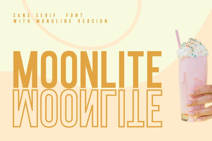 MOONLITE - SOLID & OUTLINE SANS FONTS