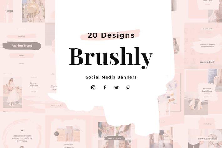 Thumbnail for Brushly Social Media Pack