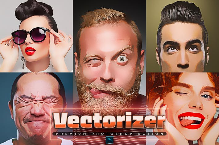 Thumbnail for Векторизатор Photoshop Действие