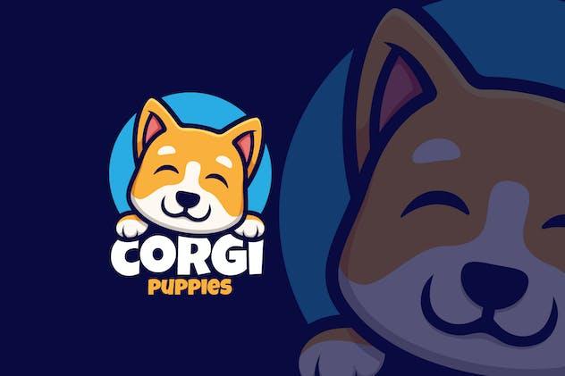 Corgi Puppies Cute Logo