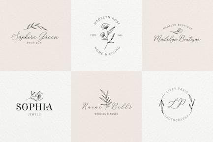 Romantic Feminine Premade Logos