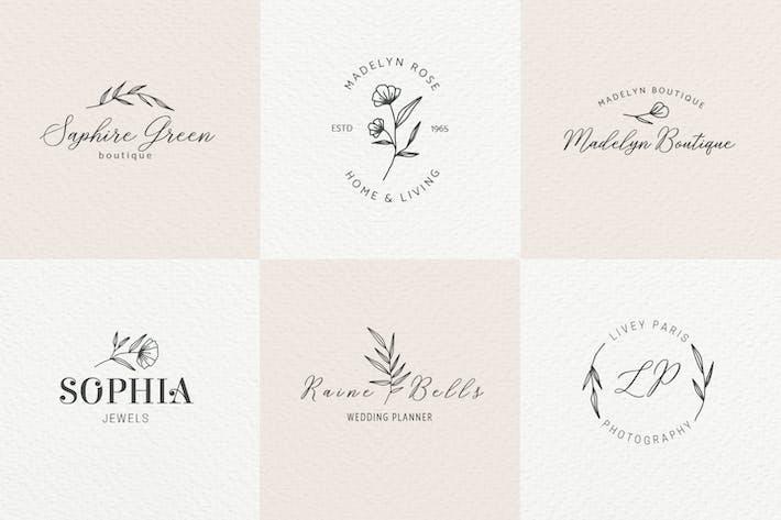 Thumbnail for Romantic Feminine Premade Logos