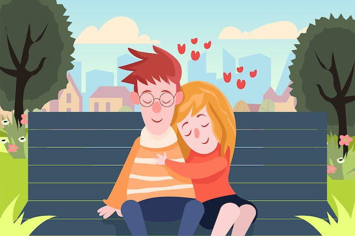 Thumbnail for Couple in Love - Vector illustration