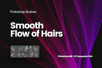 Цифровой Гладкий поток волос Photoshop Кисти