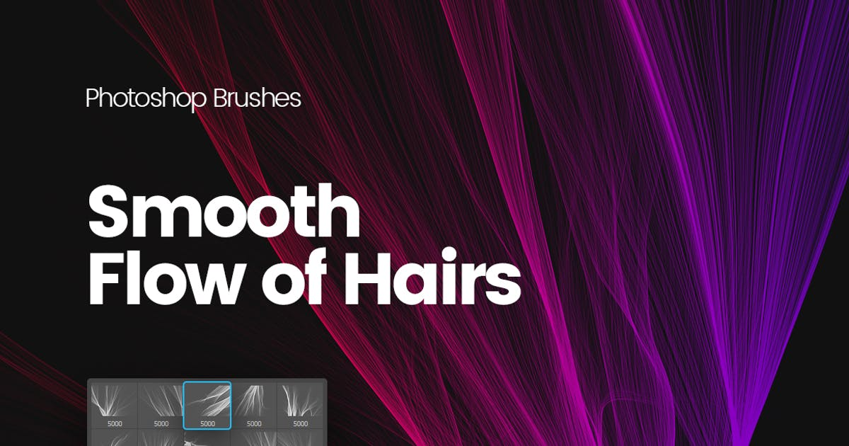 Download Digital Smooth Flow of Hairs Photoshop Brushes by themefire