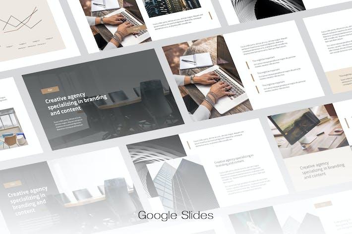 Thumbnail for Kier - Творческое агентство Google Слайды Шаблон