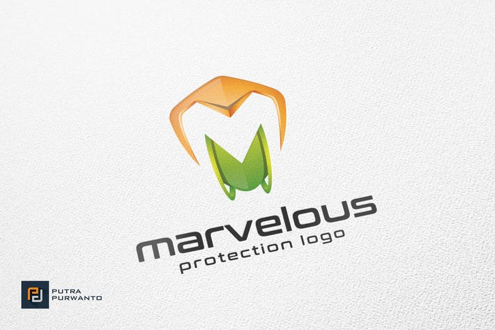 Cover Image For Marvelous / Shield - Logo Template