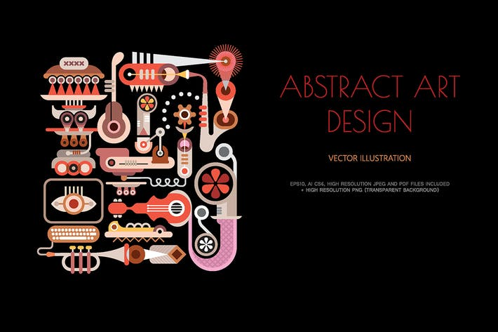 Thumbnail for Musical Theme Abstract art design vector artwork