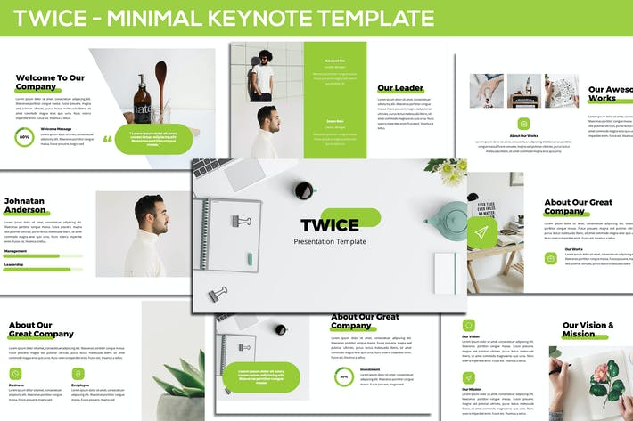 Thumbnail for Twice - Minimal & Simple Keynote Template
